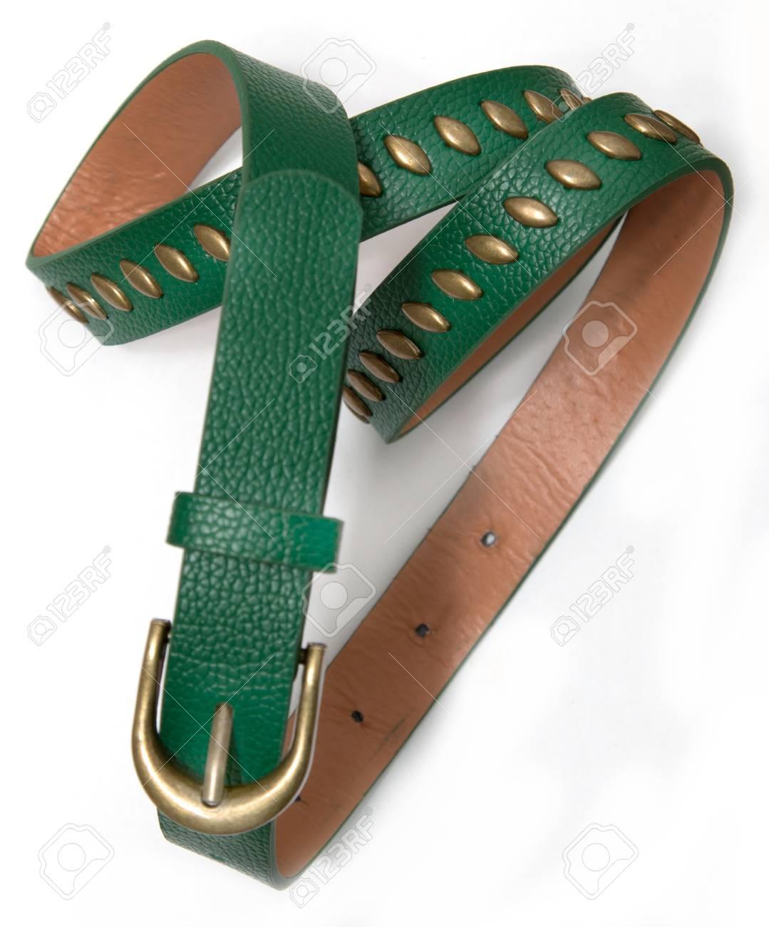 disponibilidad en el reino unido df5ab 2f0f6 Cinturón verde de la mujer sobre un fondo blanco