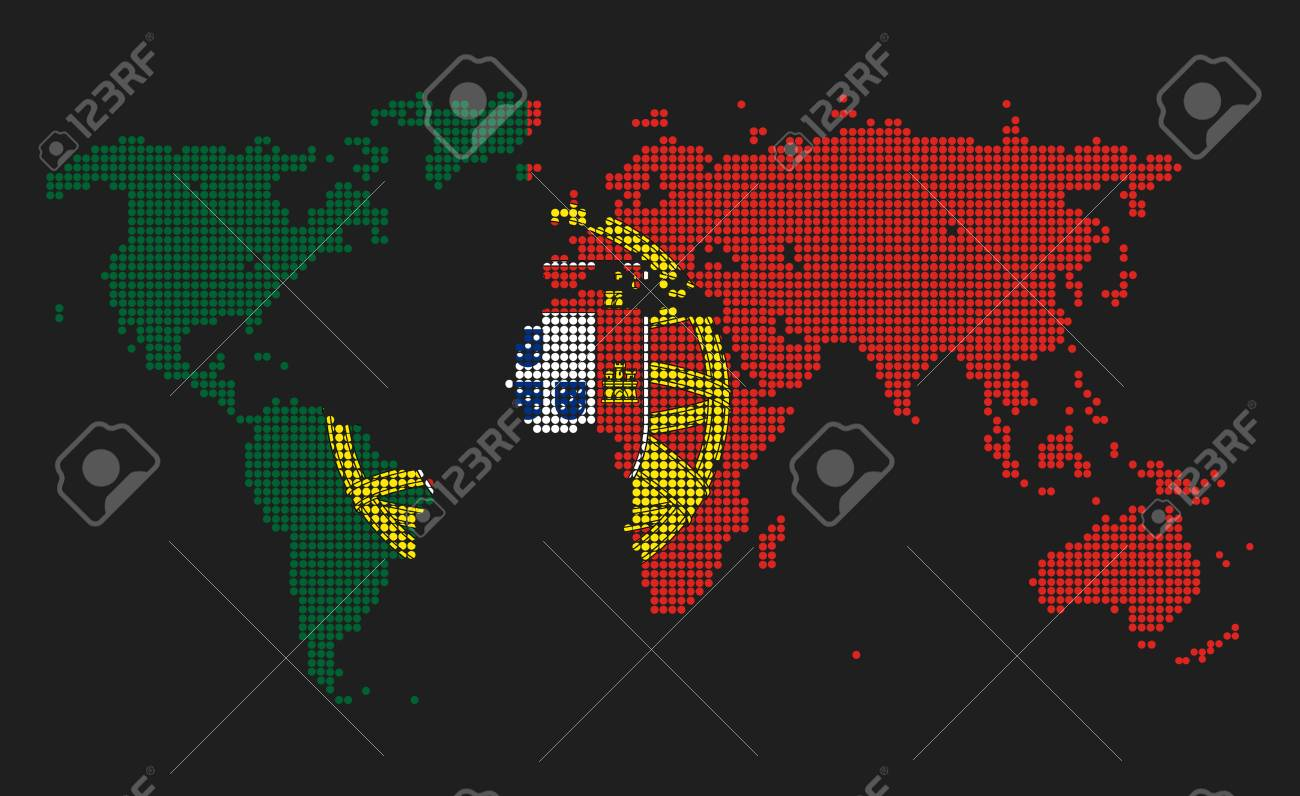 Dotted world map in portugal flag colors isolated on grey background dotted world map in portugal flag colors isolated on grey background foto de archivo gumiabroncs Gallery