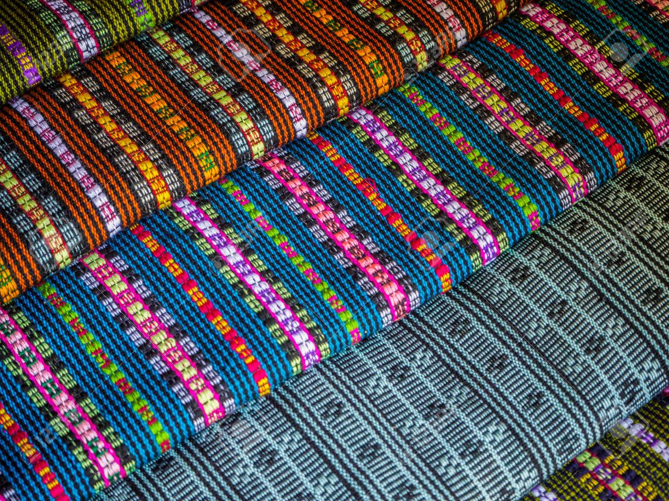 colorful fabrics and carpets sale in laos stock photo 53540199 - Carpets For Sale