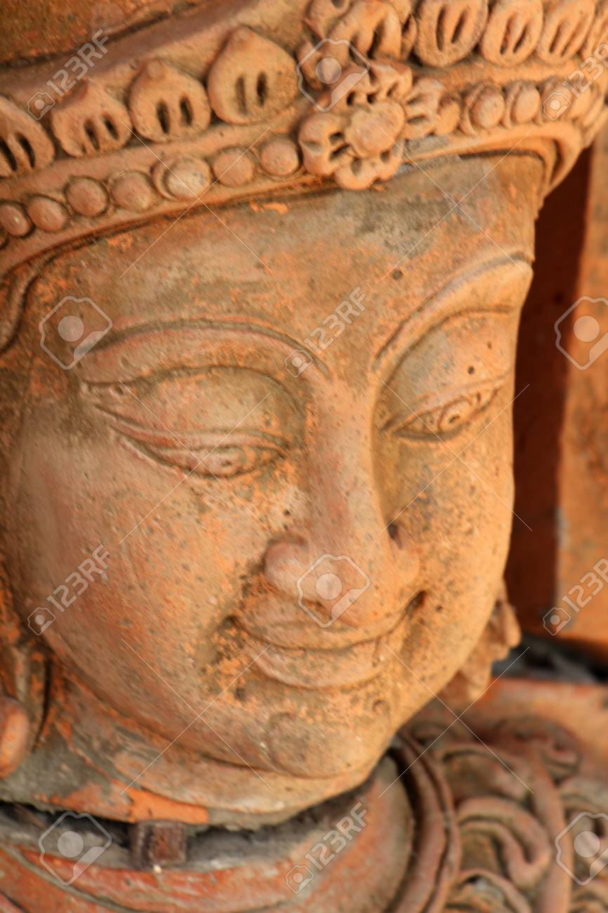 Thai low relief carvings art for decorate stock photo picture and