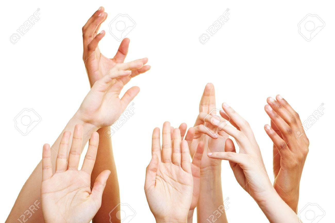 Many desperate hands reaching into the air Stock Photo - 7251979