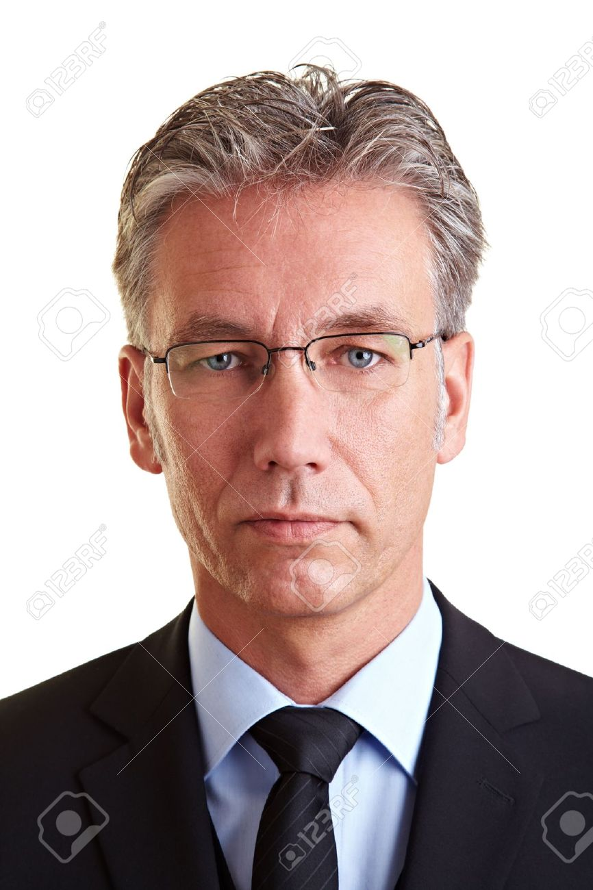 Portrait of a serious business man with glasses - 8903753