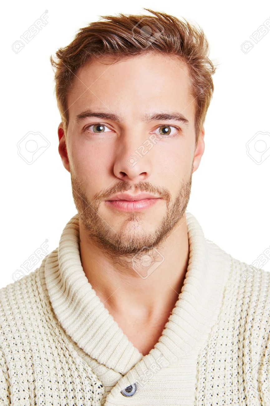 Remarkable Head Shot Of A Young Attractive Man Stock Photo Picture And Hairstyles For Men Maxibearus