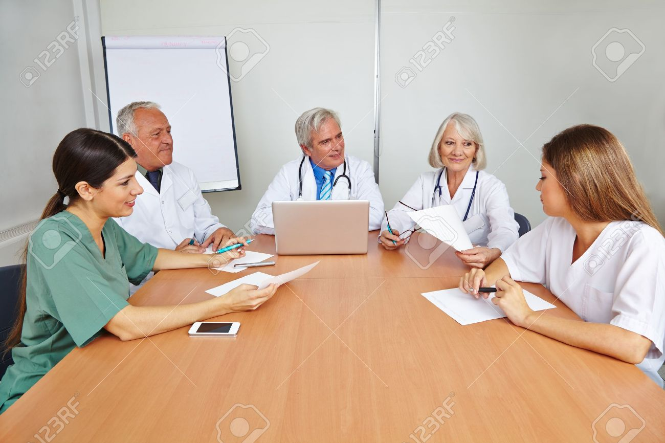 group of doctors applicant at job interview for a hospital group of doctors applicant at job interview for a hospital stock photo 21380354