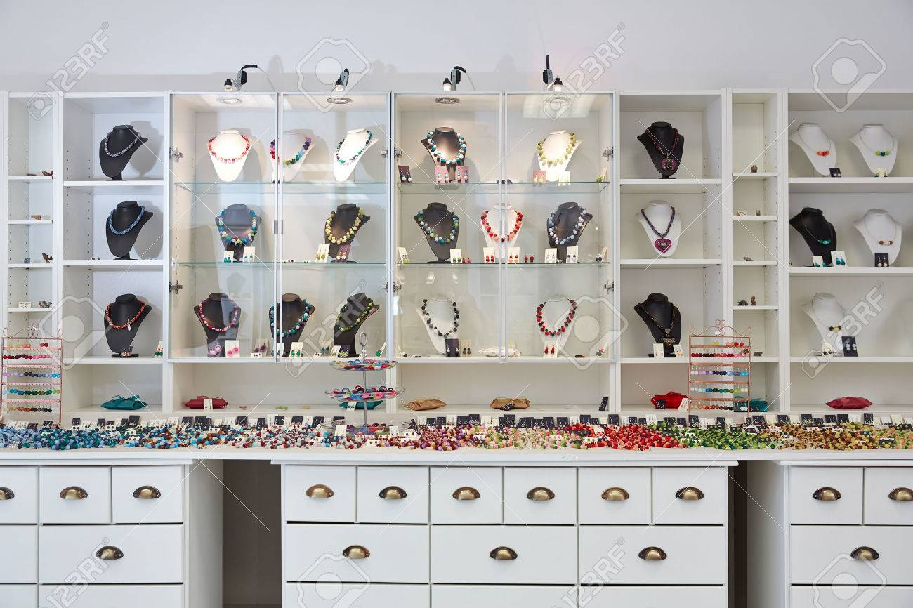 Interior Design Of Jewelry Store With Product Presentation Displays Stock Photo Picture And Royalty Free Image Image 29220139