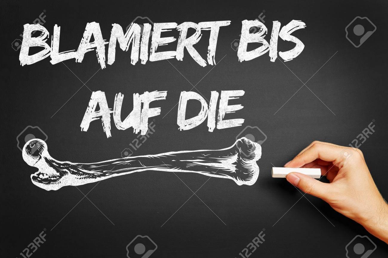 Hand Writing The German Saying \