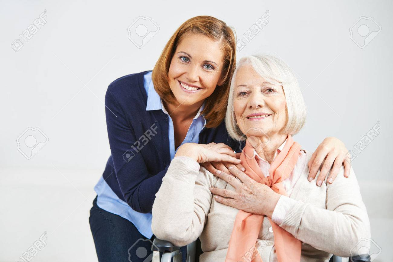 Happy family with woman and senior woman at home Stock Photo - 46991955