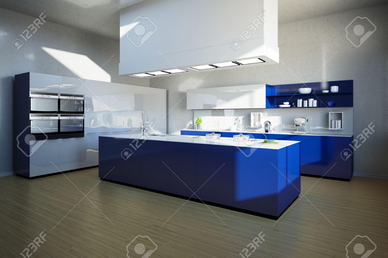 Berühmt Blau Kücheninsel Ideen - Ideen Für Die Küche Dekoration ...