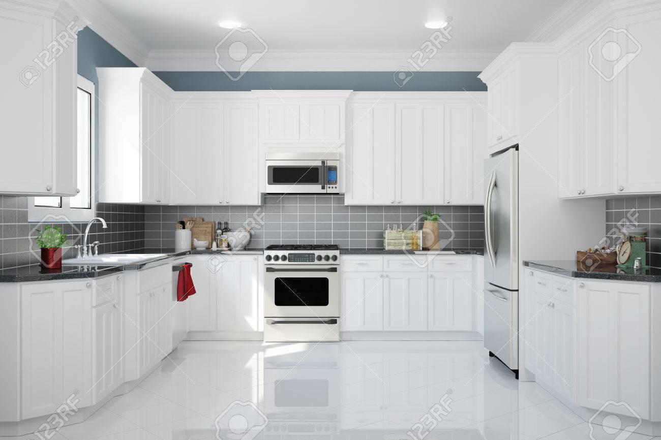 Cucine Bianche E Rosse. Cucine Moderne Con Isola Bianche Immagini ...