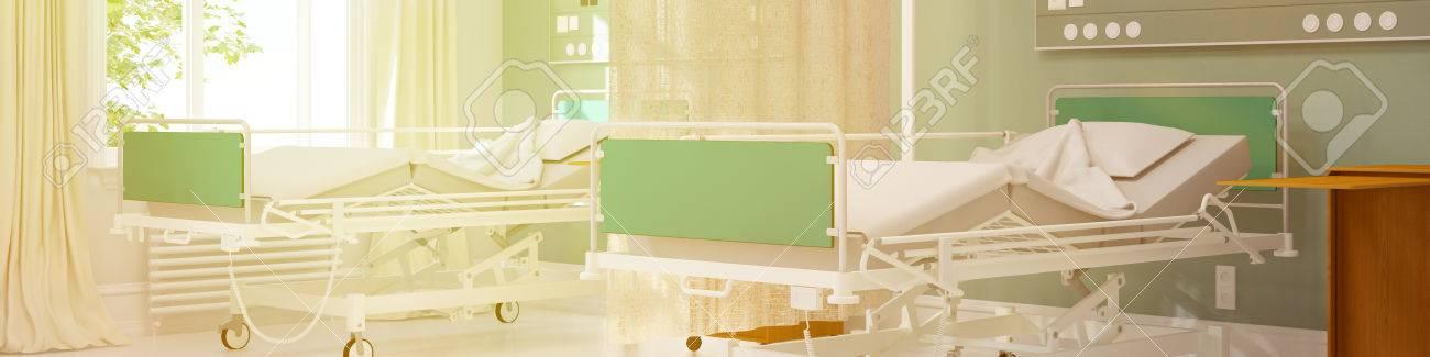 Agreable Banque Du0027images   Lits Du0027hôpital Vides Dans Une Chambre Double Dans Une  Clinique (rendu 3D)