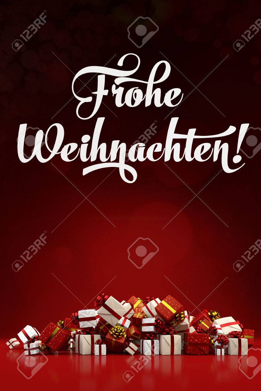 Bilder Frohe Weihnachten Merry Christmas.Christmas Card With The German Slogan