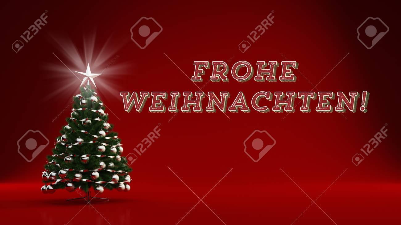 Frohe Weihnachten 3d.German Slogan