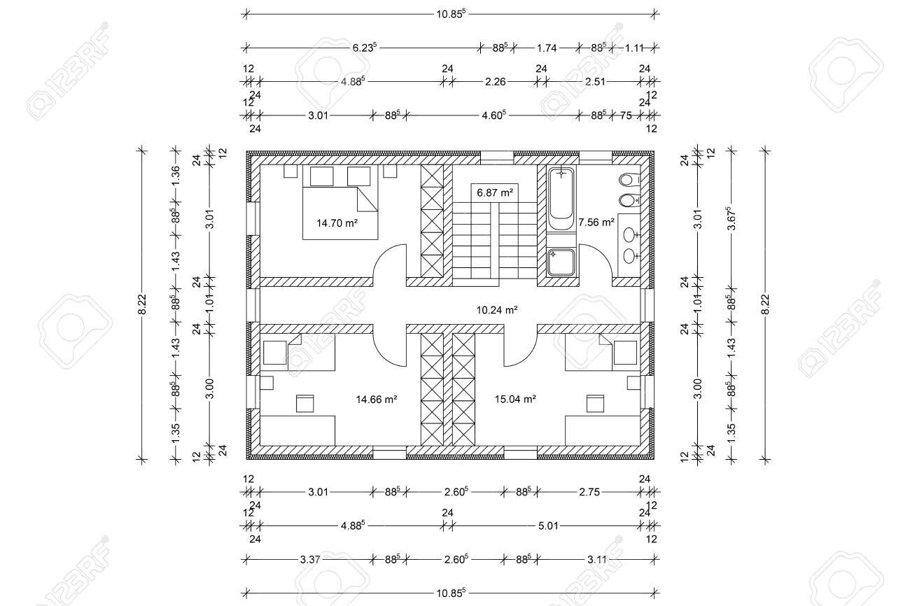 plan de maison comme un architecte