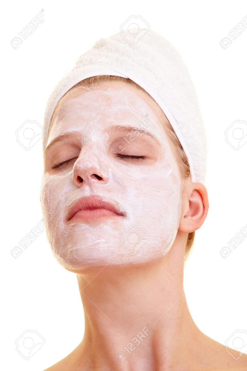 Beautiful woman with face mask - 158958836