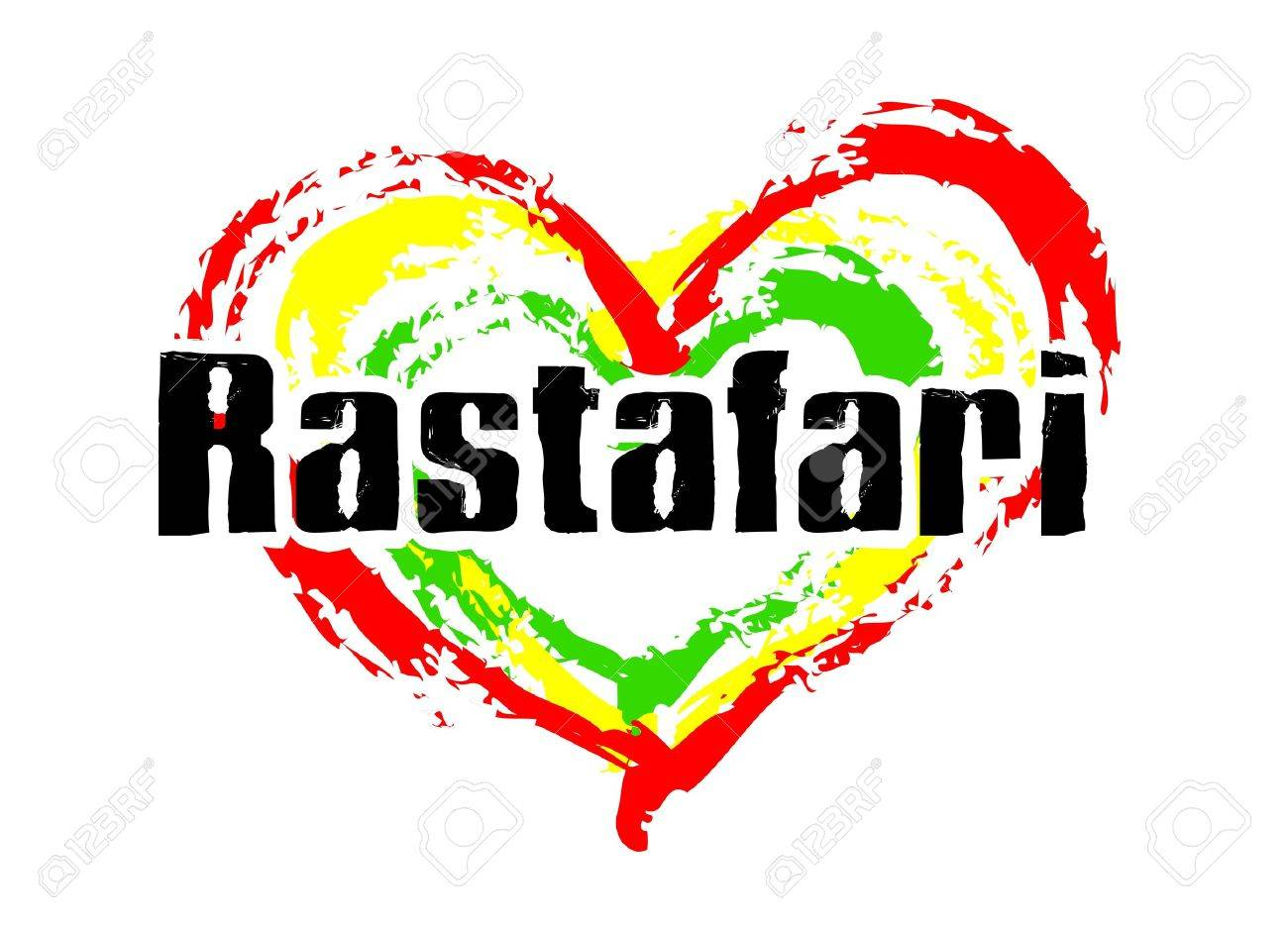 Reggae heart on white background Stock Photo - 8602437