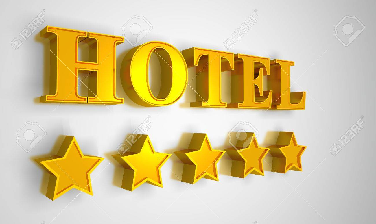 3D Hotel sign Stock Photo - 8730565