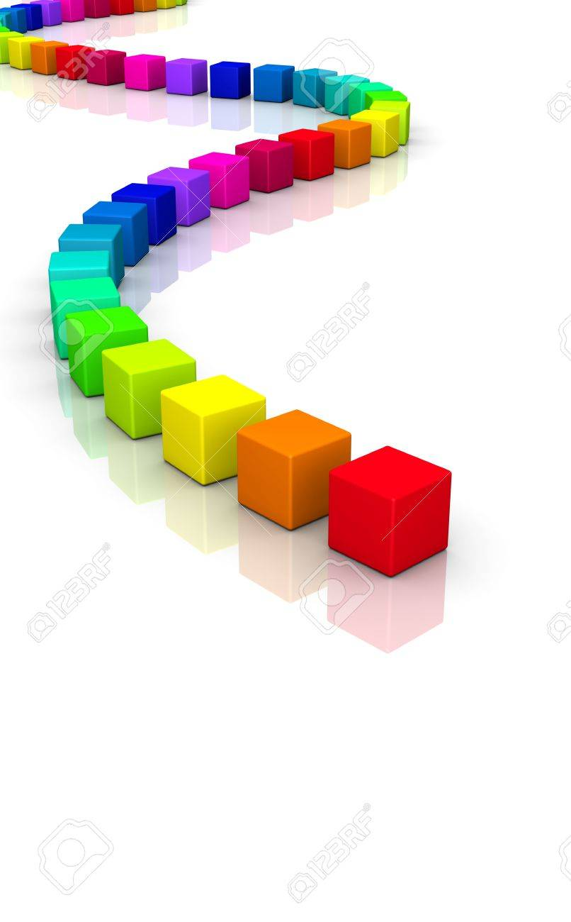 colorful 3d cubes on white background Stock Photo - 8994584