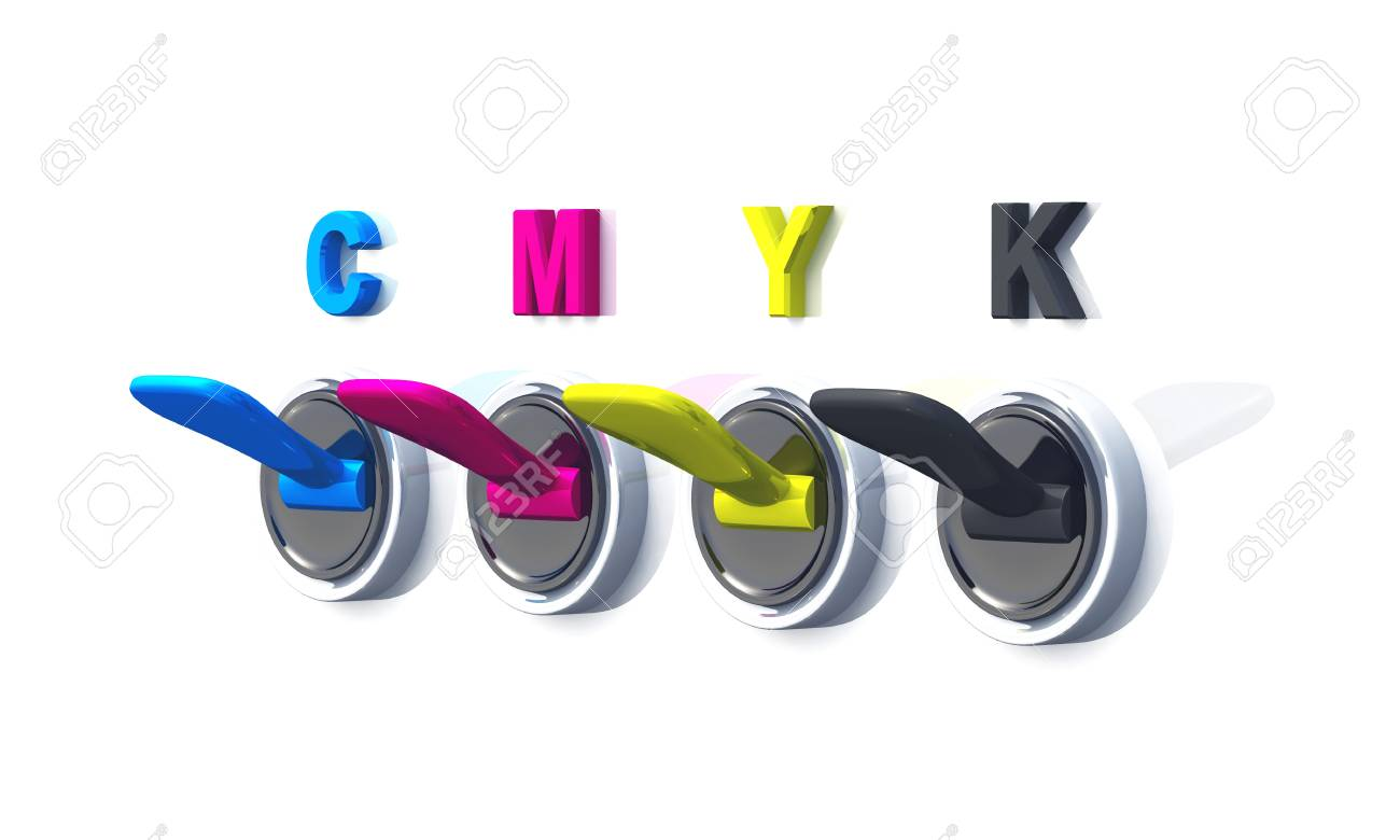 colorful switches for printing on white background Stock Photo - 9117317