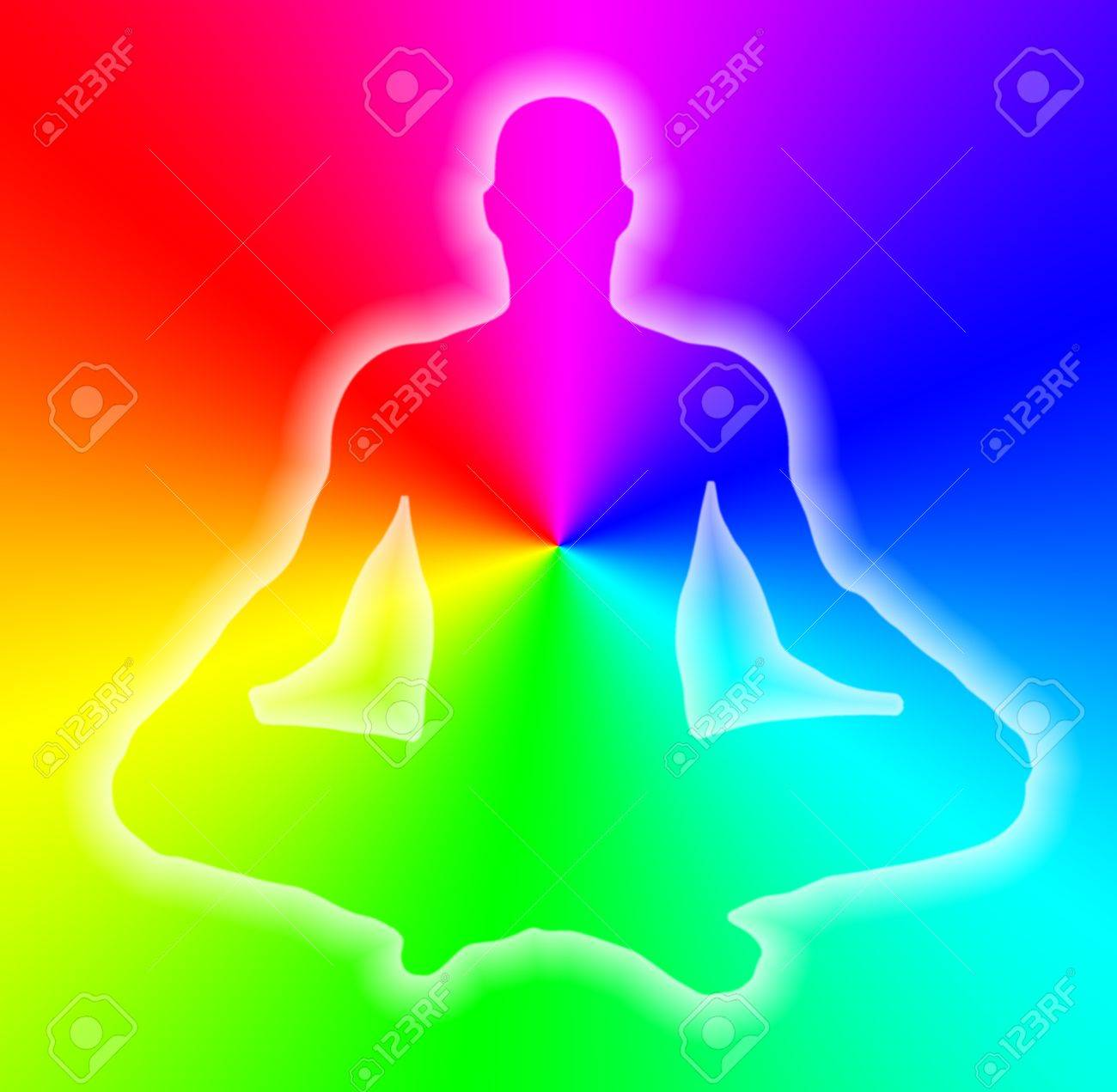 male body on rainbow background Stock Photo - 9810551