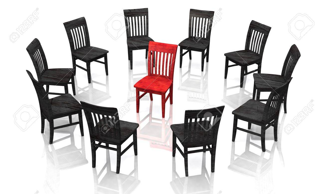 The Trial - Red Black Stock Photo - 13822575