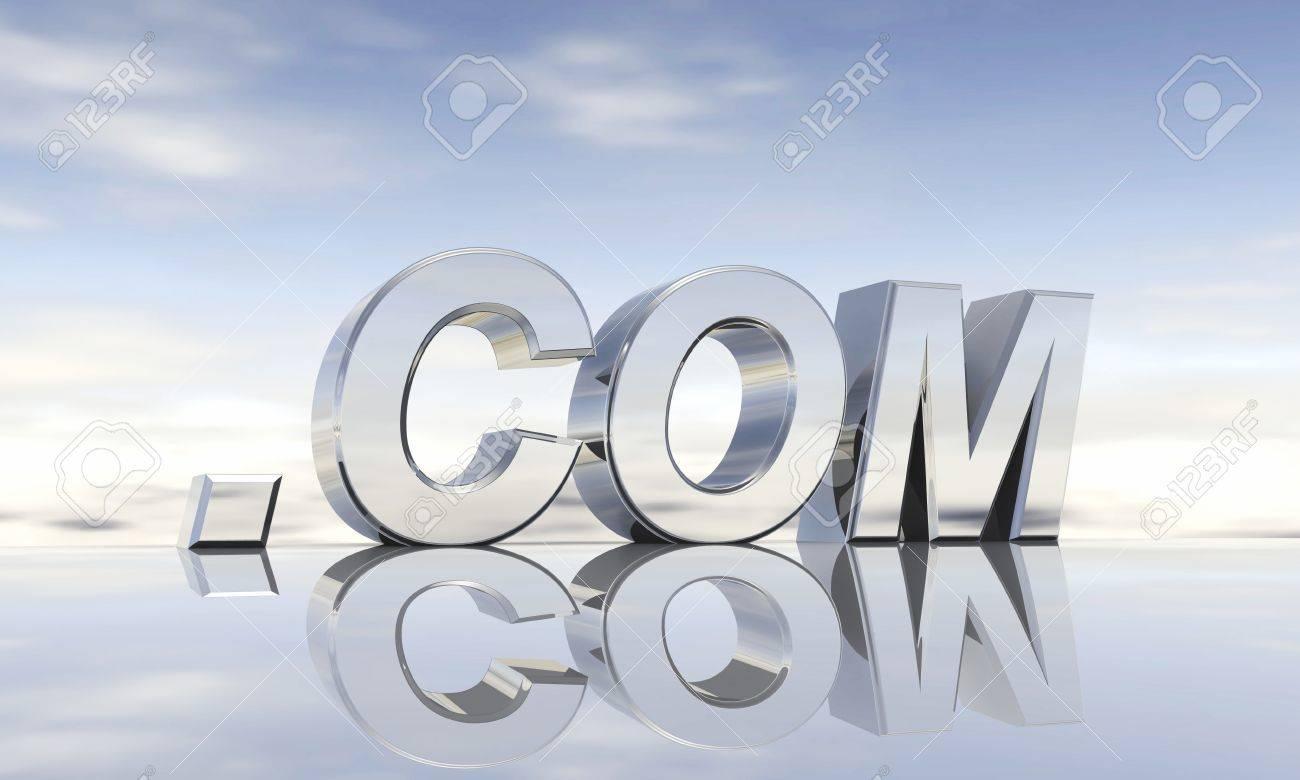 Top-Level-Domain  com Stock Photo - 13844215