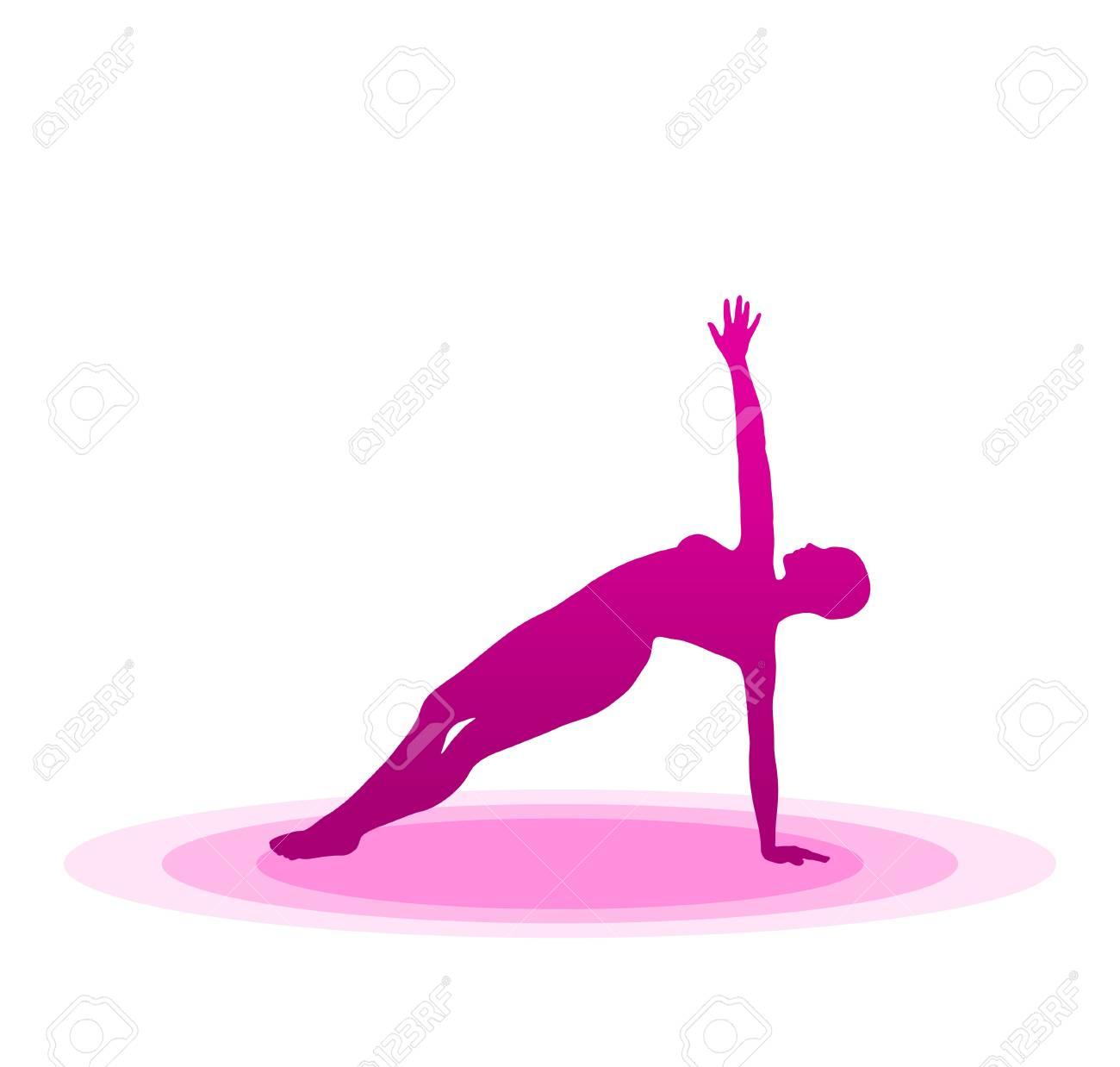 Purple Yoga Pose - 14 Stock Photo - 13921617
