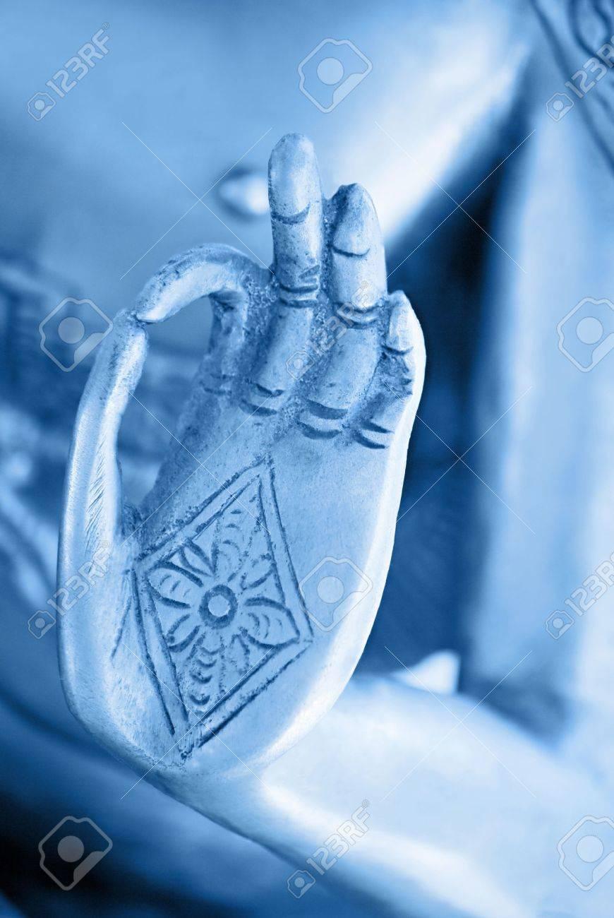 Hand Of The Blue Buddha Stock Photo - 13945728