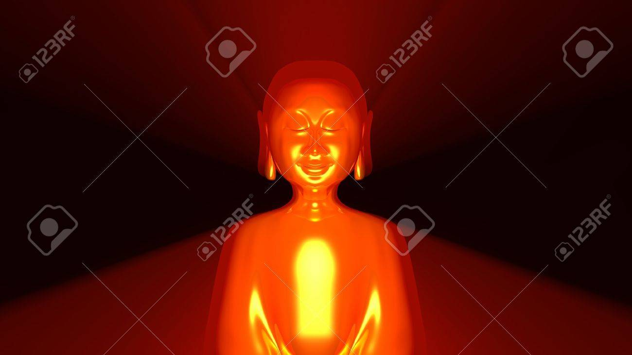 Buddha Aura Gold Red