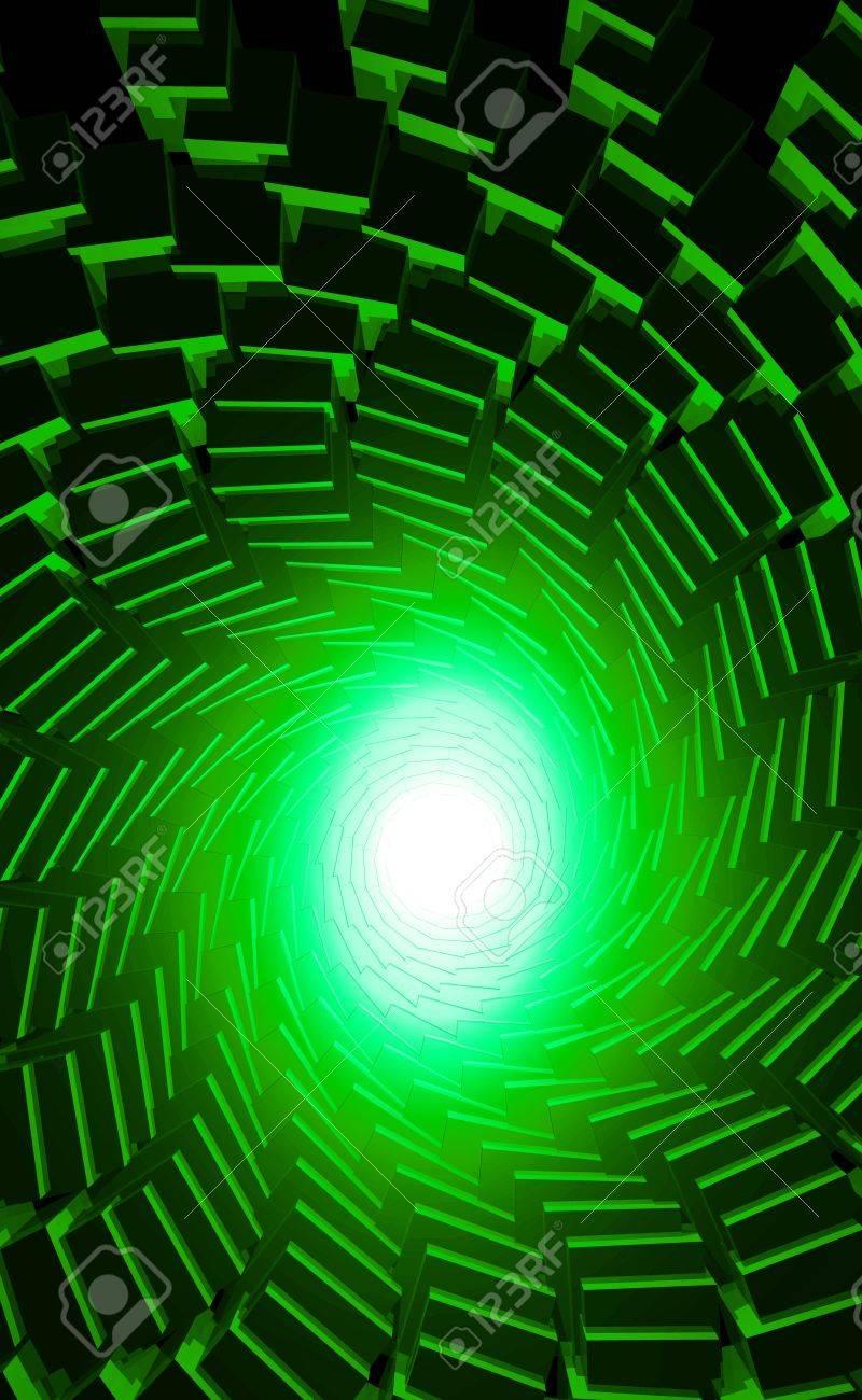 Abstract reincarnation - Green Black Stock Photo - 14171667