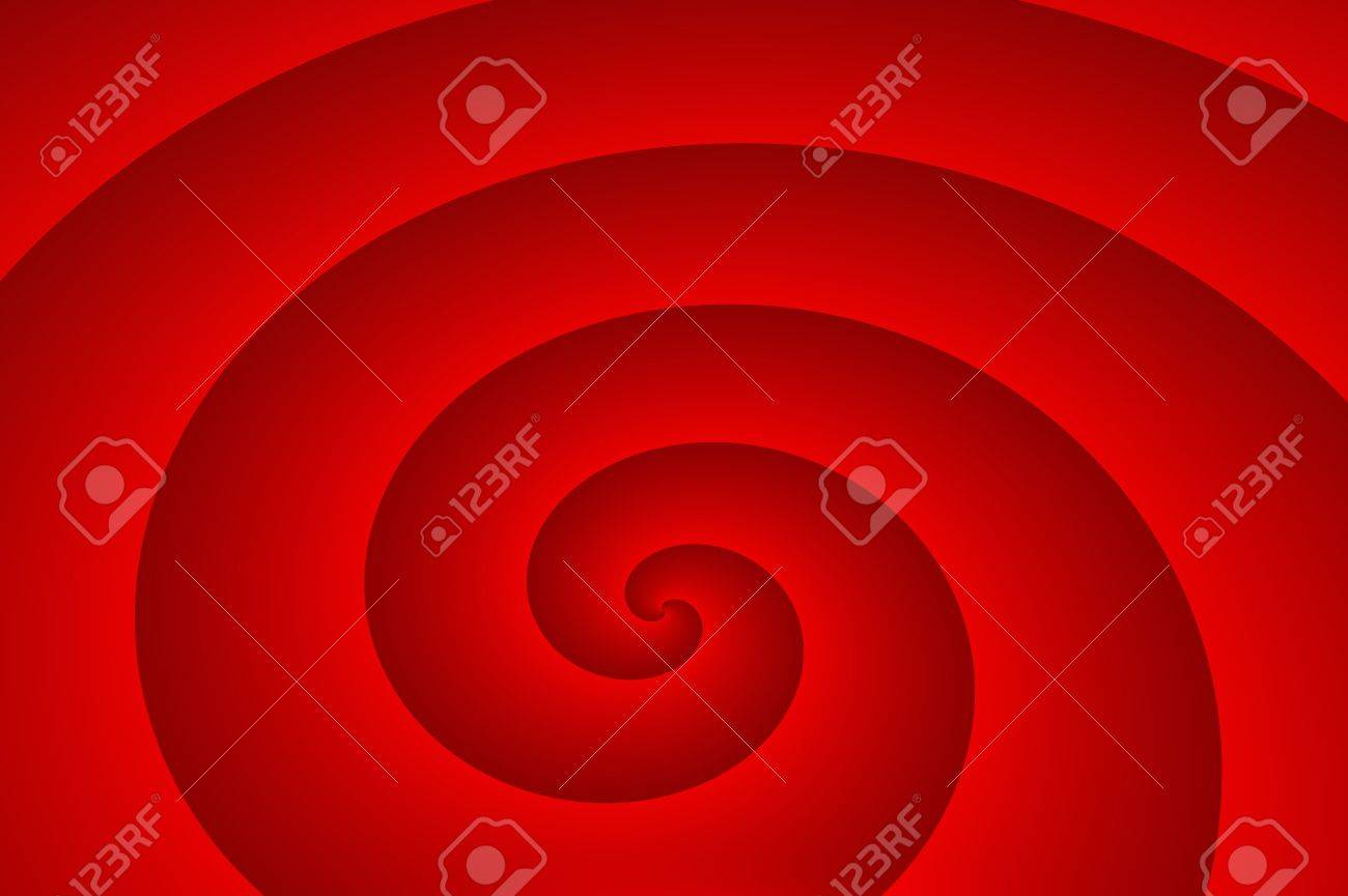 Background - The red spiral Stock Photo - 14380844