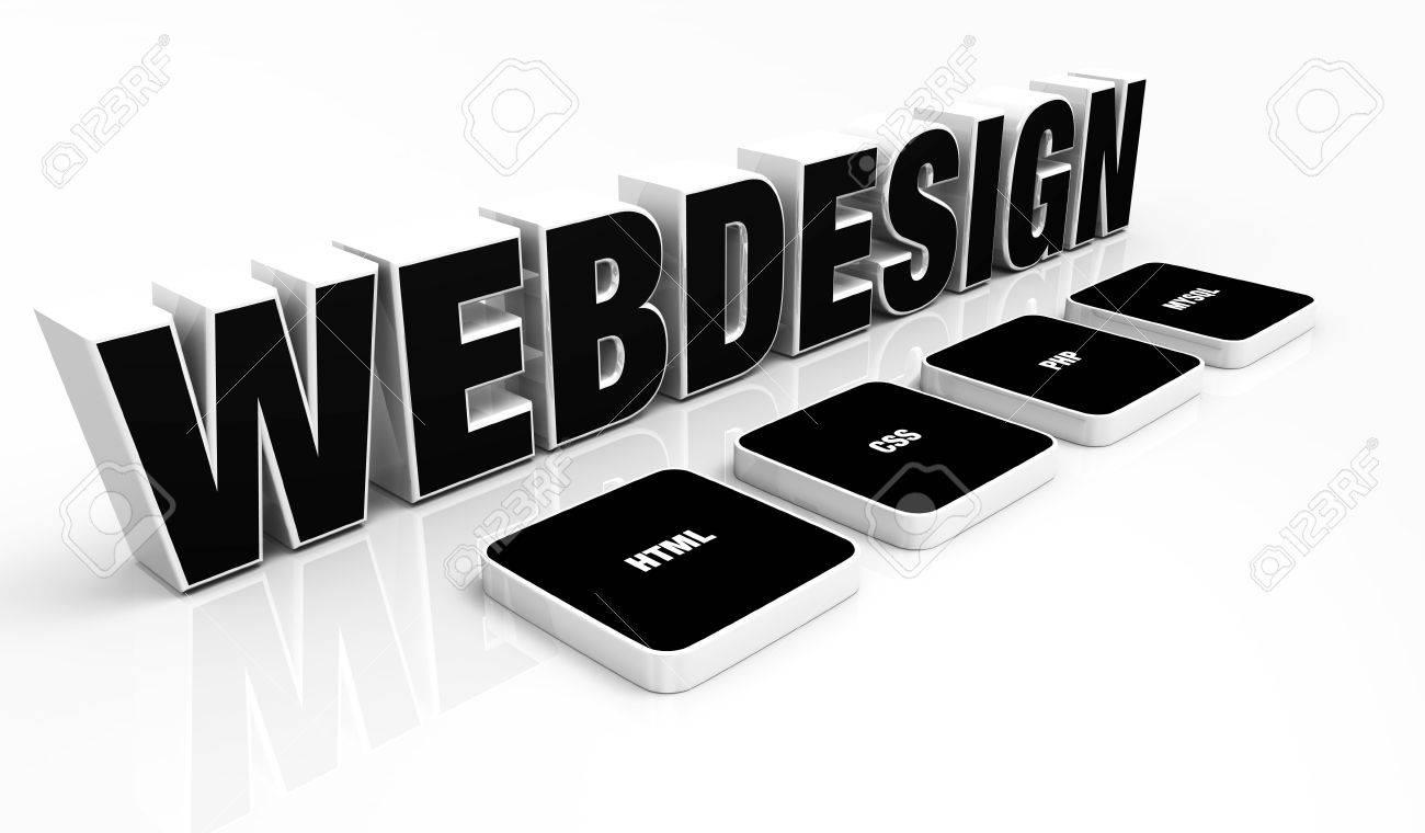 Web design portfolio concept Black Stock Photo - 14452925