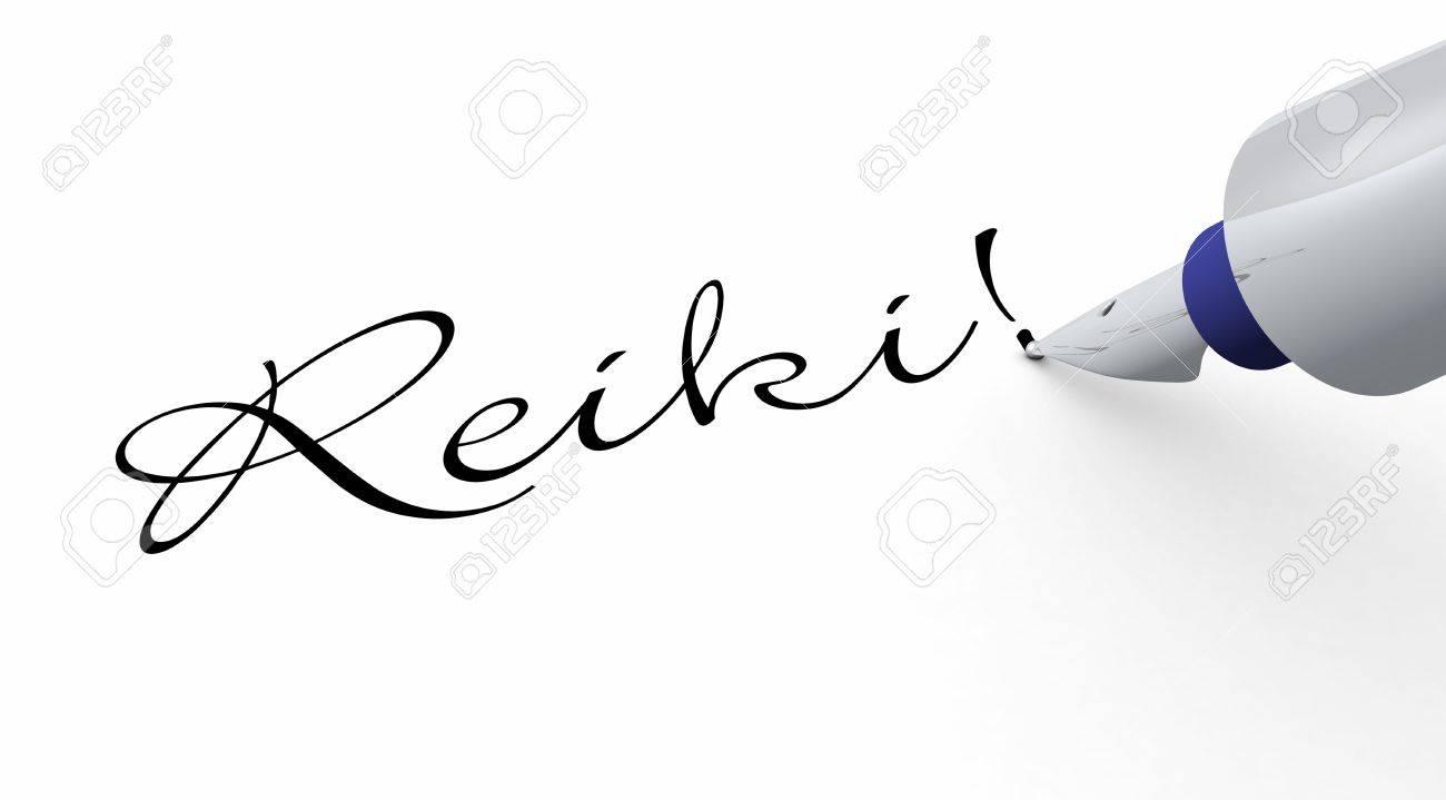 Pen Concept - Reiki Stock Photo - 14452899