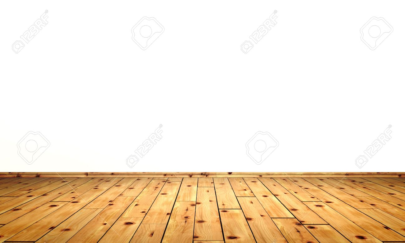 White Walls With Wood Floor Stone Pine Stock Photo Picture And