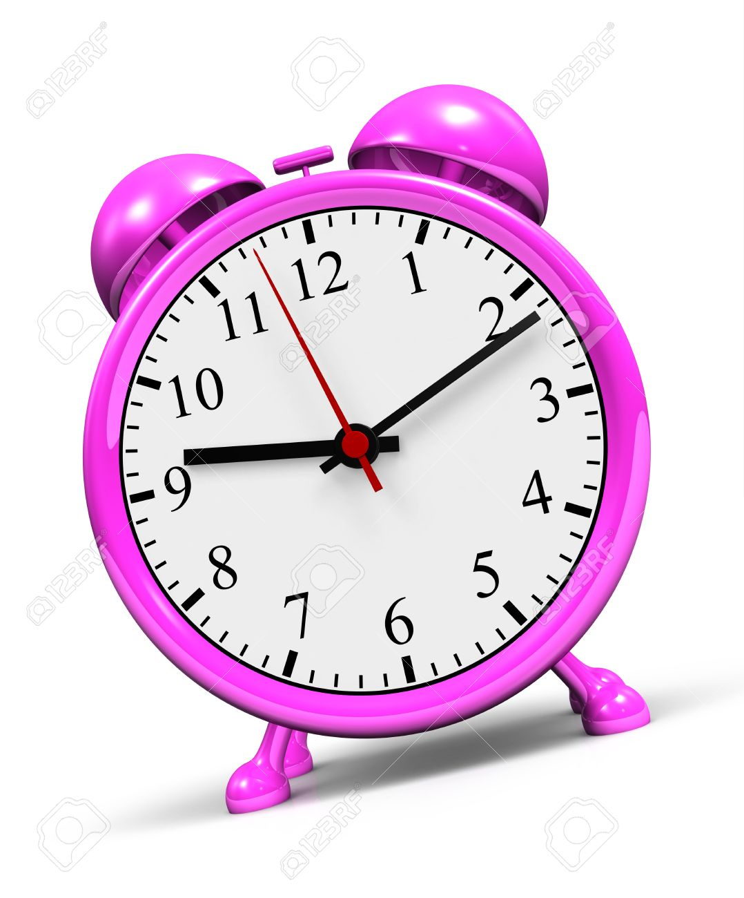 Small pink alarm clock against a white background Stock Photo   14453150. Small Pink Alarm Clock Against A White Background Stock Photo