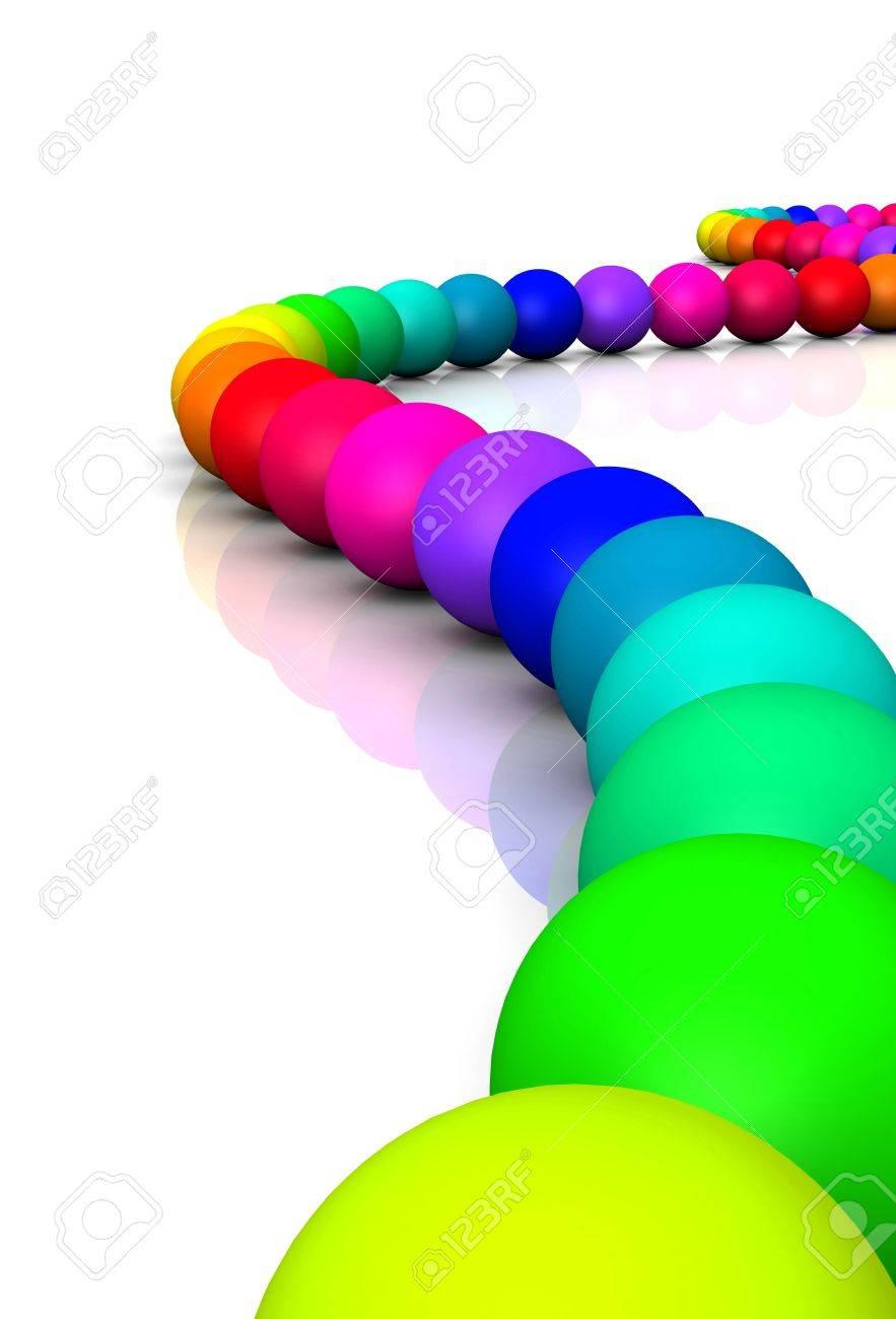 3D ball - Rainbow Serpent 01 Stock Photo - 14548107