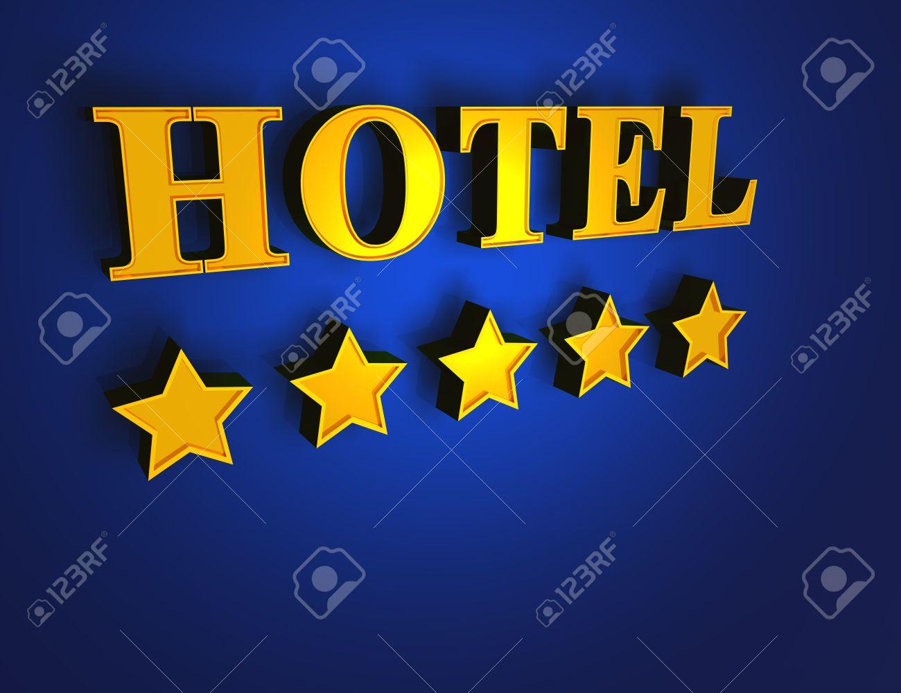 Oro azul hotel 5 estrellas foto de archivo 14586812