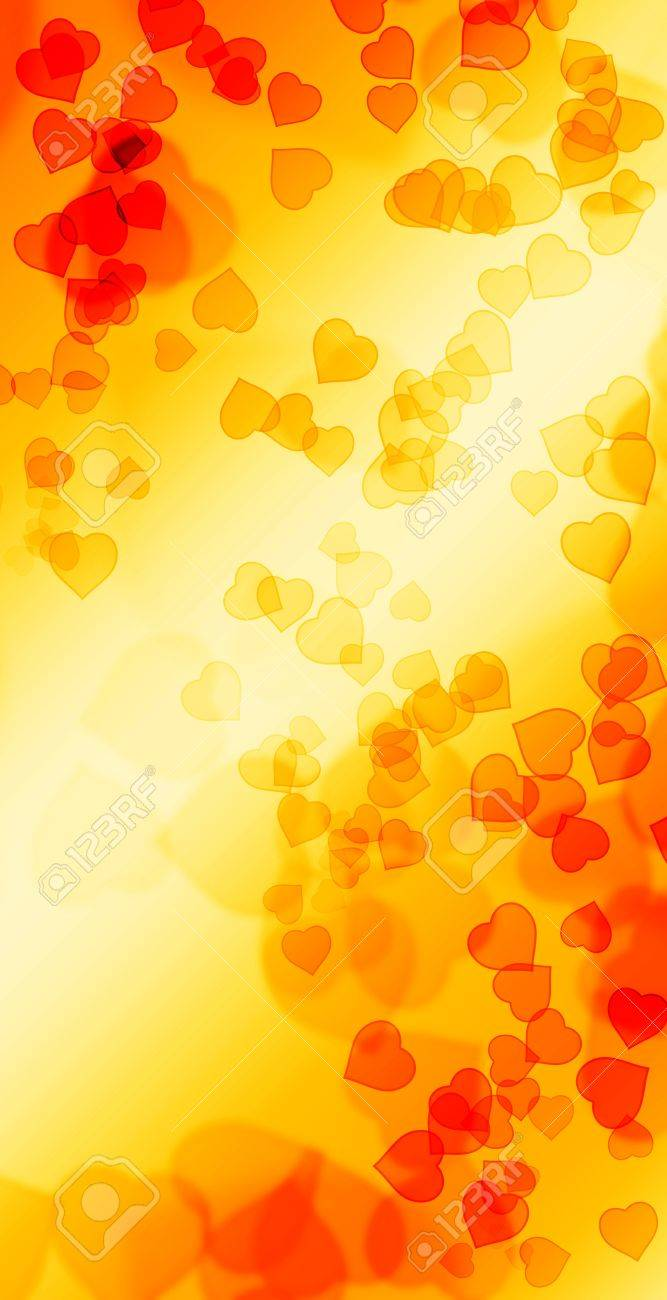 Hot Fire Love Bokeh - vertical Stock Photo - 14621009