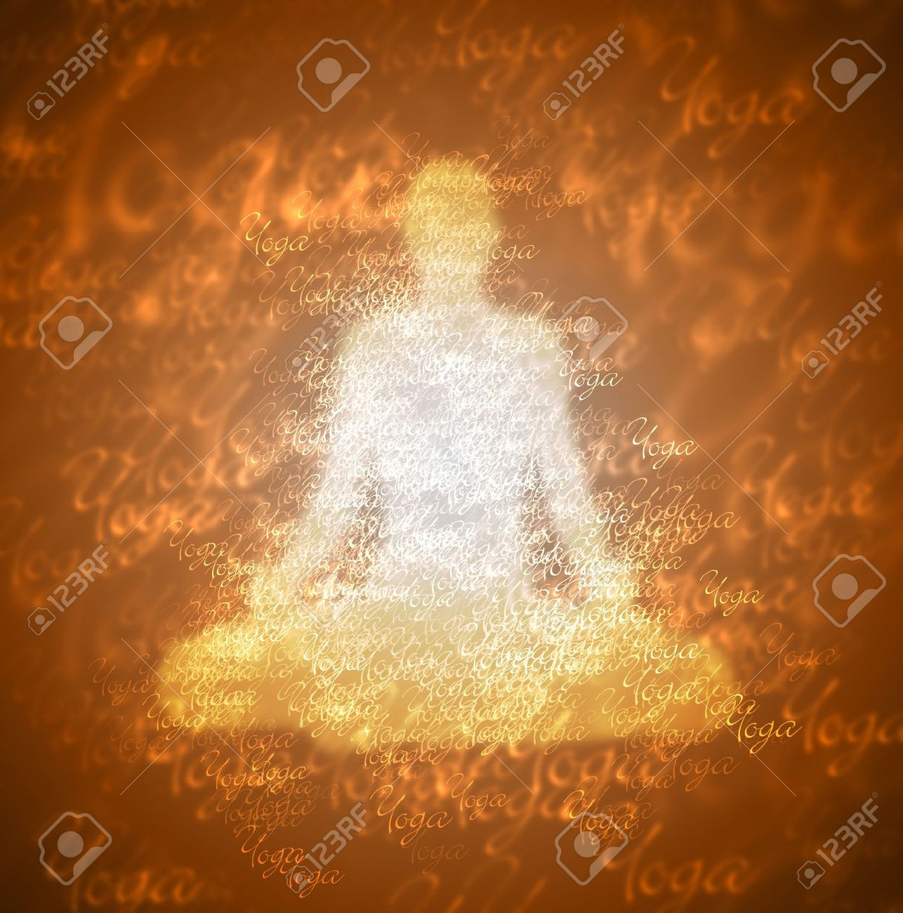 Yoga Contrast - White Brown Stock Photo - 14693079