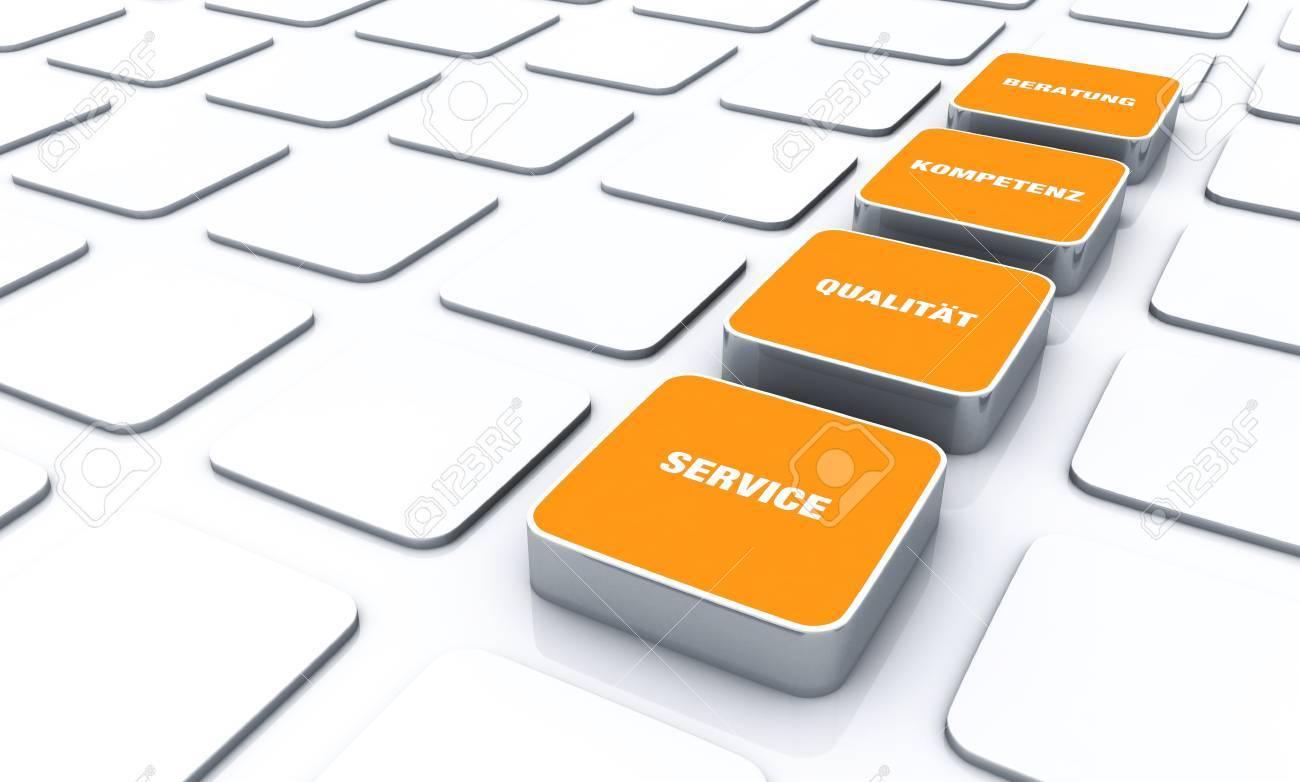 Concetto Cubo Arancione Servizio Di Consulenza Di Qualita Competenza 3