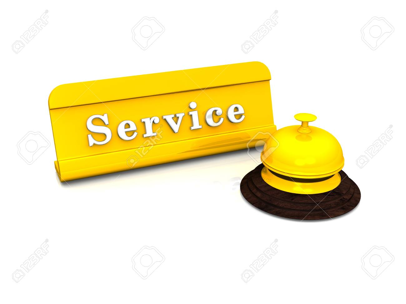 Service Concept - Gold on White Stock Photo - 14768911