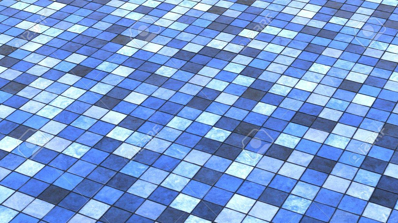 Background Blue Colored Floor Tiles Stock Photo, Picture And Royalty ...