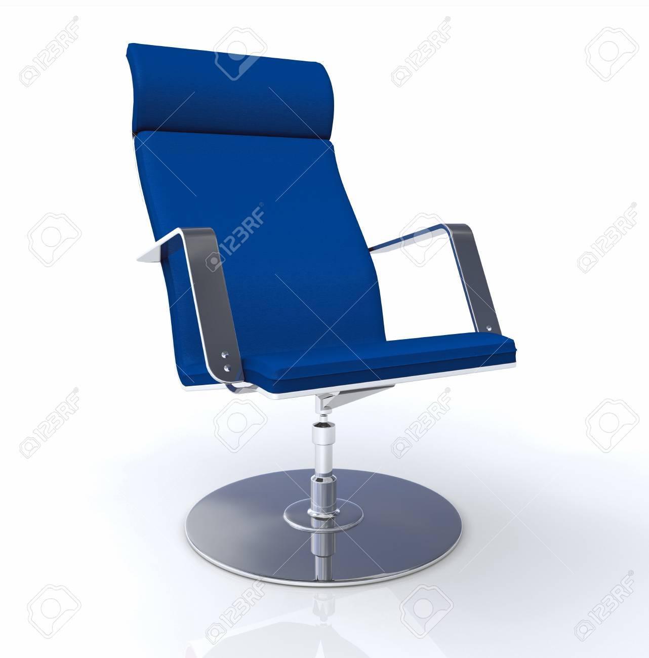 Lexcutif Chaise Design Bleu Argent Banque DImages Et Photos