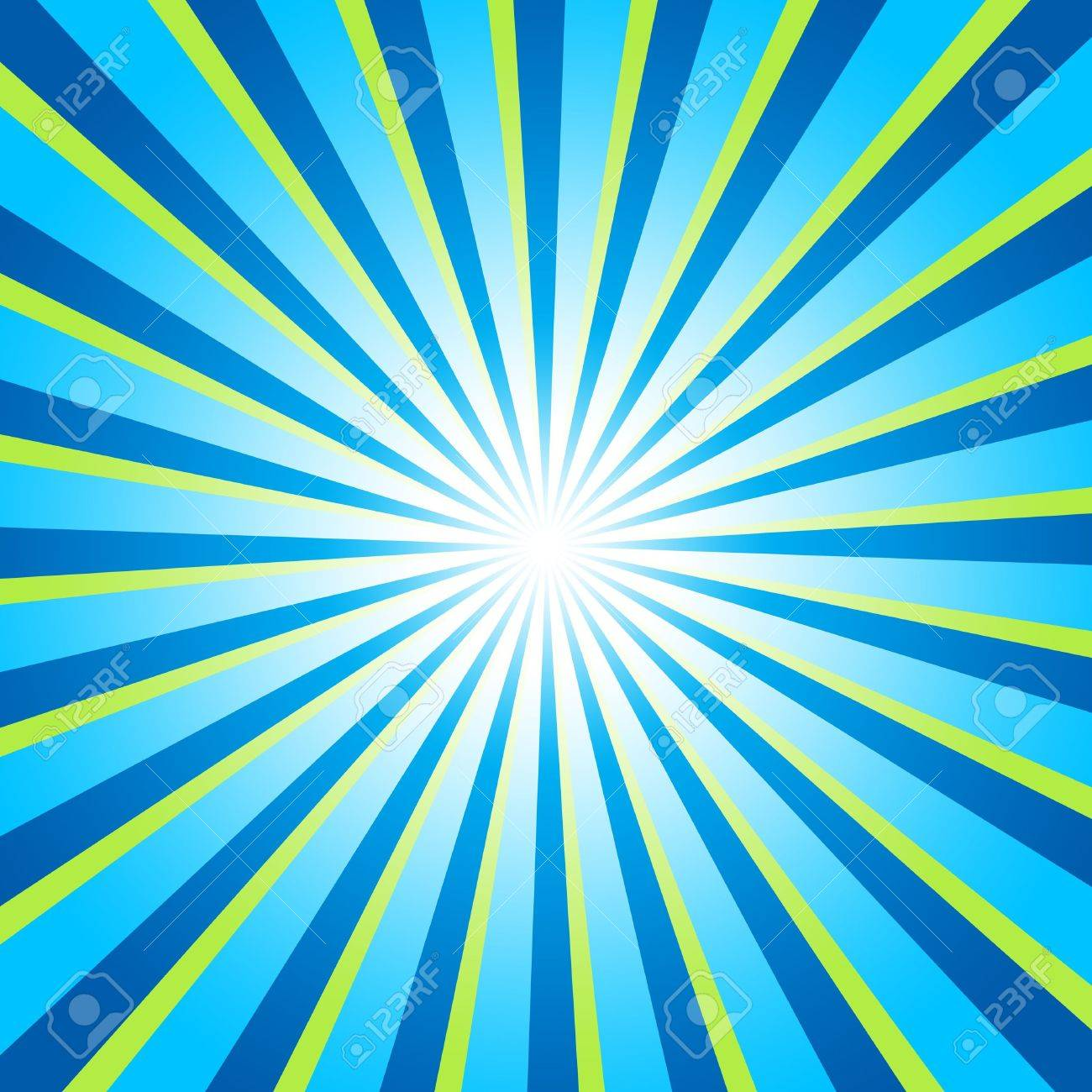 Background - rays of light blue green 02 Stock Photo - 15778677