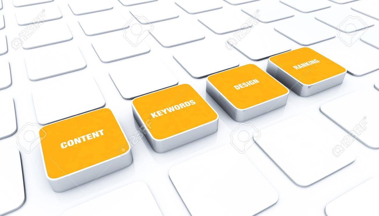 3D pads Orange - Design Content Keywords Ranking Stock Photo - 15888203