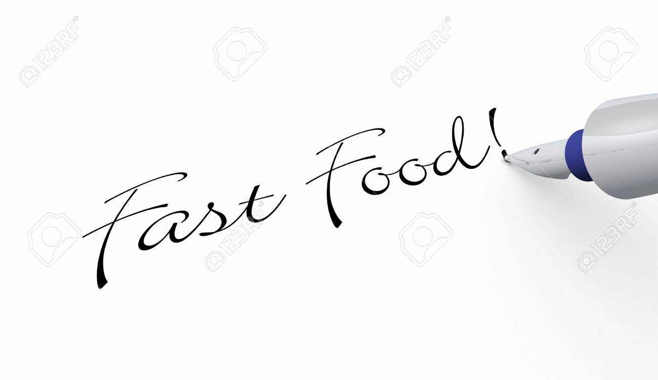 Pen Concept - Fast Food Stock Photo - 16135323
