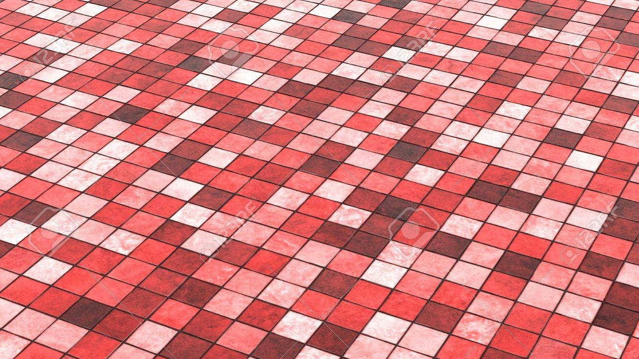 background red colored floor tiles 02 stock photo 16526148 - Colored Floor Tiles