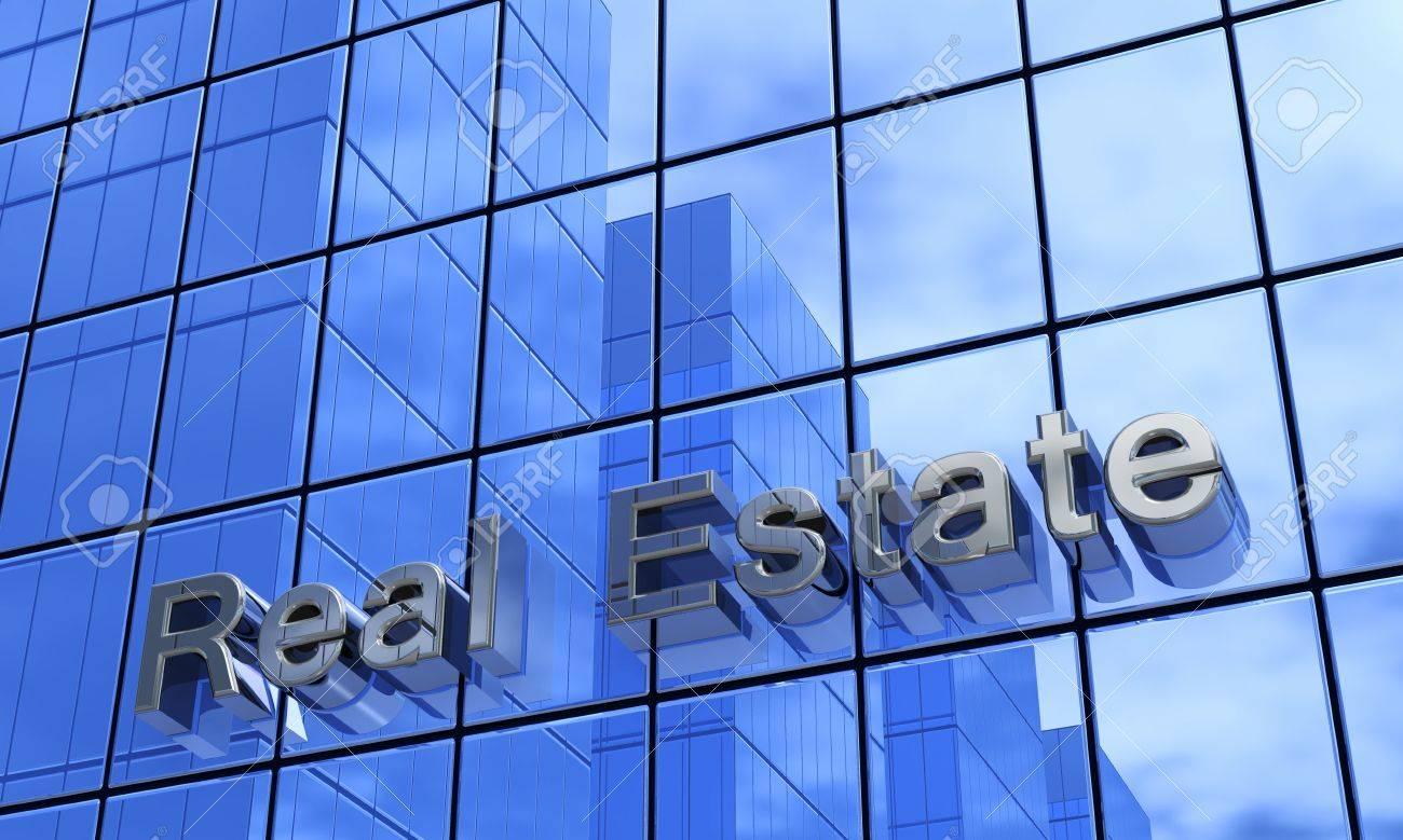 Real Estate concept blue façades Stock Photo - 18371657