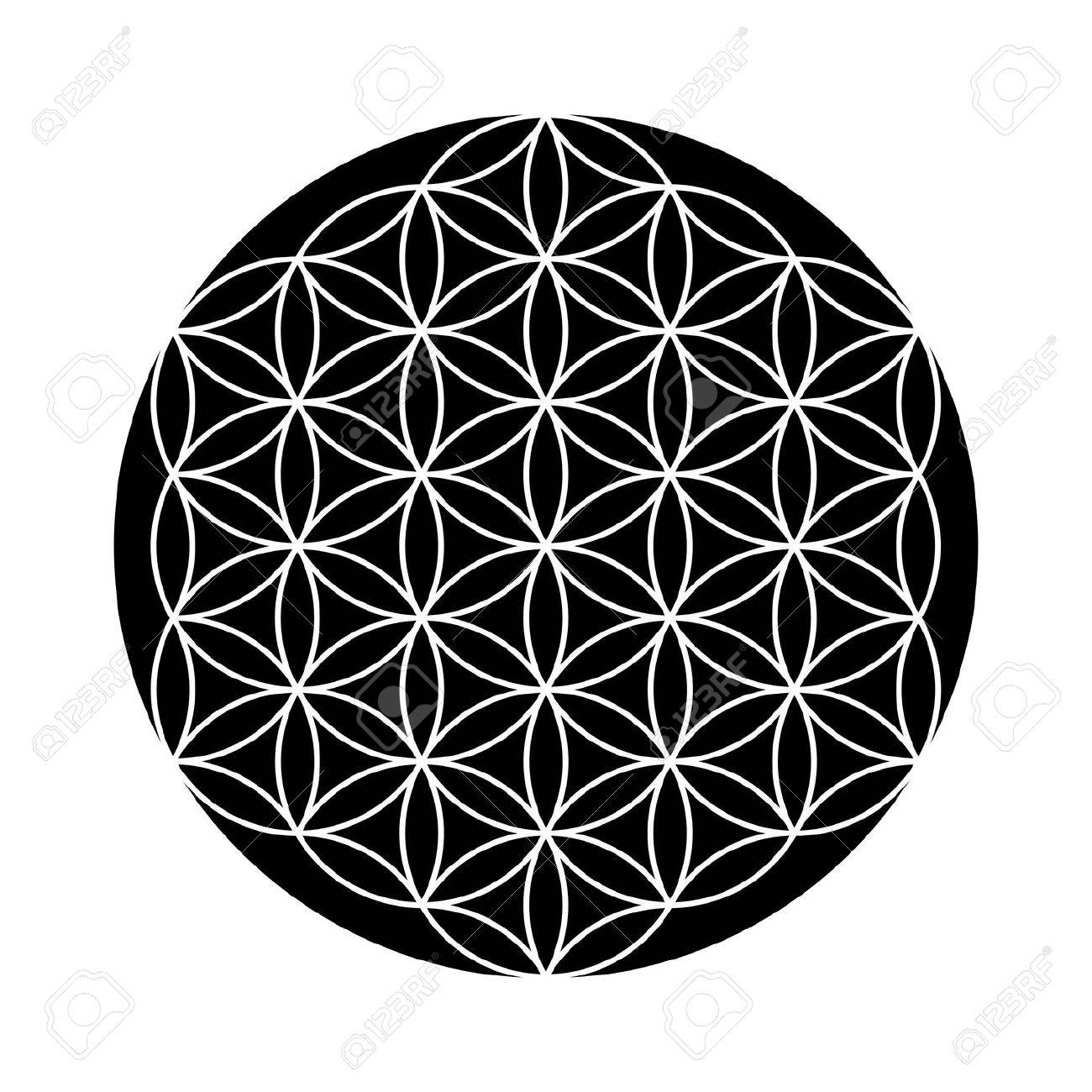 Flower Of Life Symbol Black And White Stock Photo Picture And