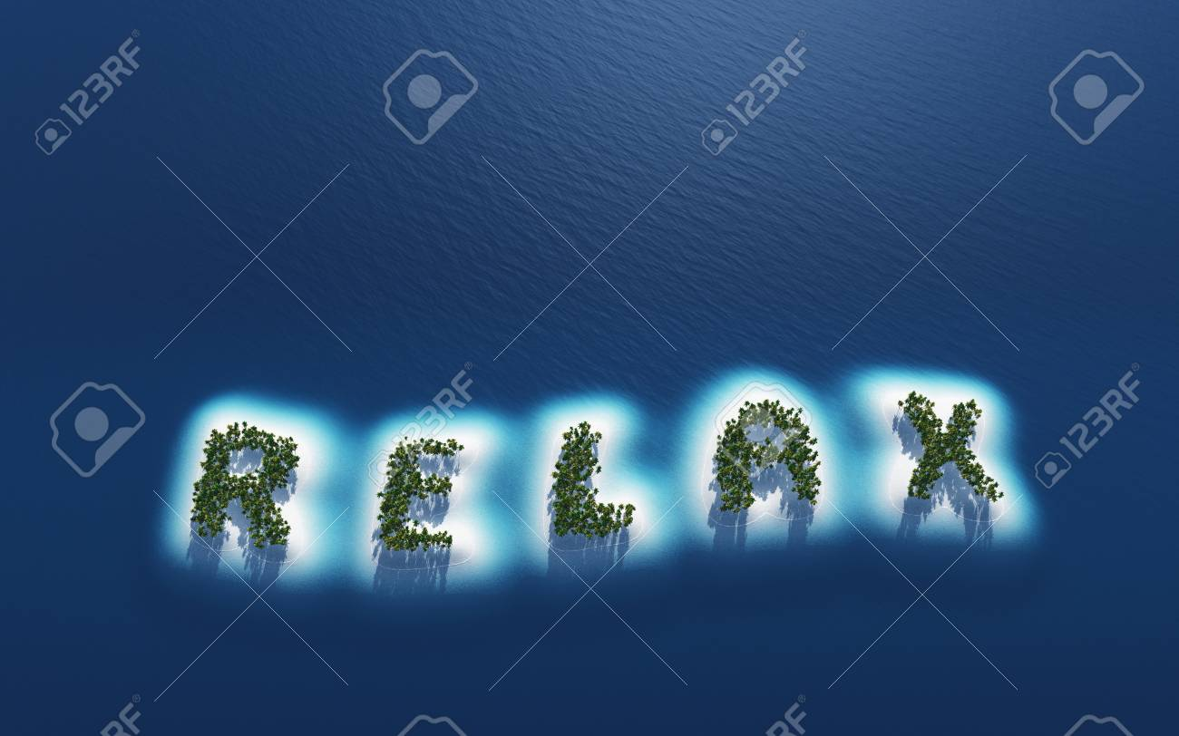 Relax - island concept in plan Stock Photo - 18628316