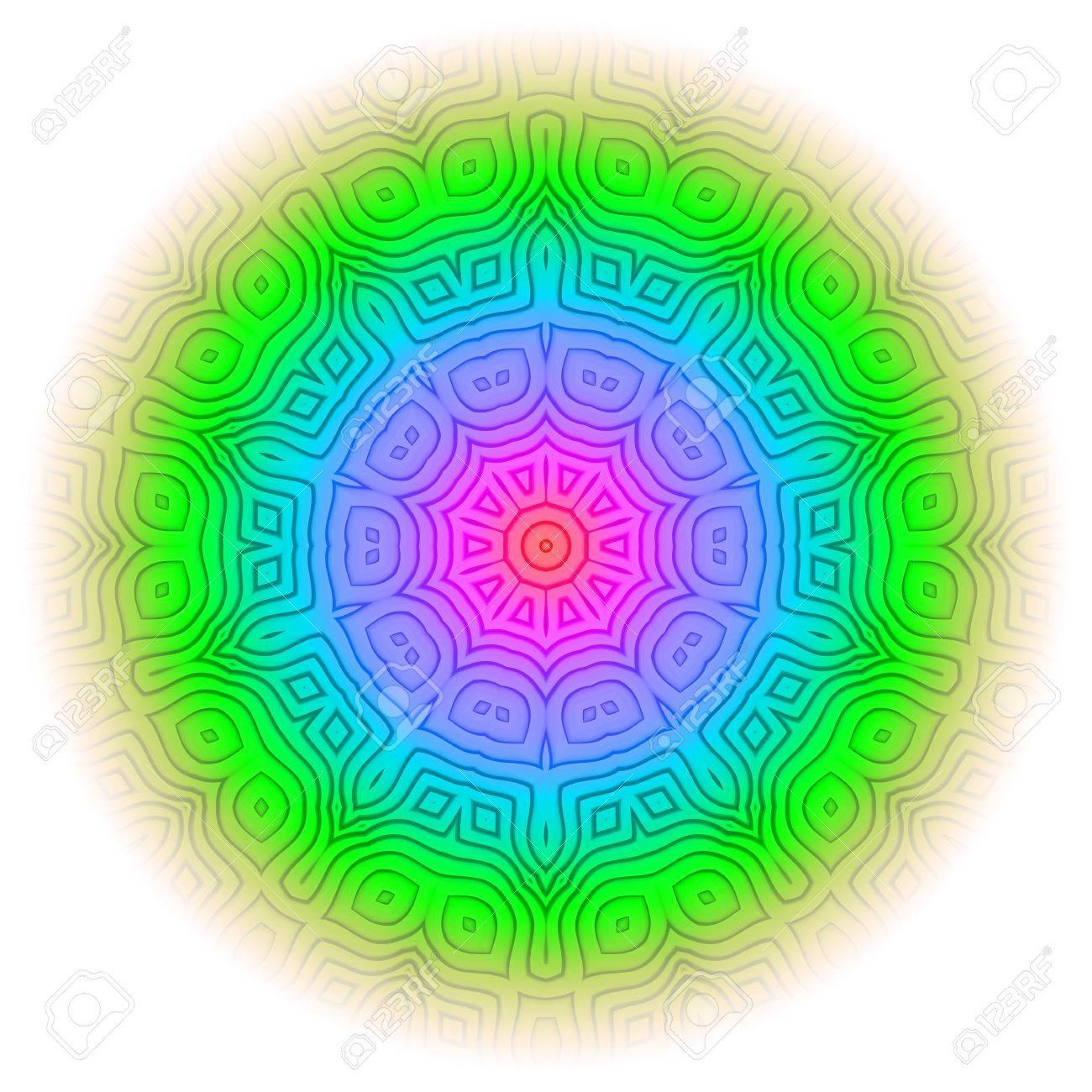 Rainbow Mandala 09 Stock Photo - 18792130